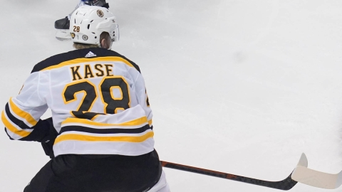 Boston Bruins winger Ondrej Kase