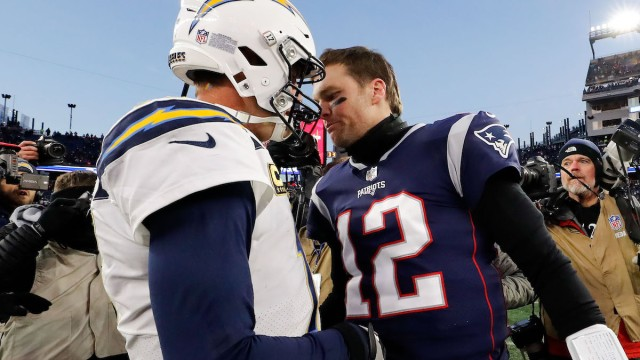 Colts quarterback Philip Rivers, Buccaneers quarterback Tom Brady