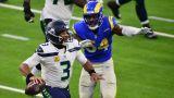 Seattle Seahawks quarterback Russell Wilson and Los Angeles Rams linebacker Leonard Floyd