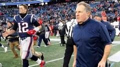 Tampa Bay Buccaneers quarterback Tom Brady, New England Patriots head coach Bill Belichick