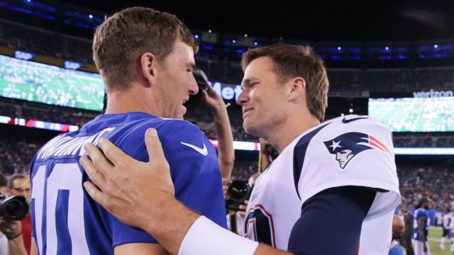 New England Patriots, New York Giants NFL Tom Brady, Eli Manning