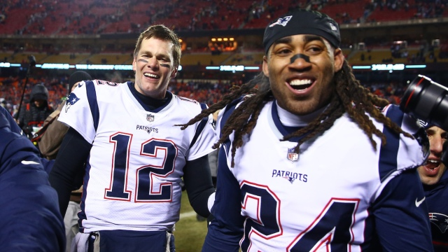Buccaneers quarterback Tom Brady, Patriots cornerback Stephon Gilmore