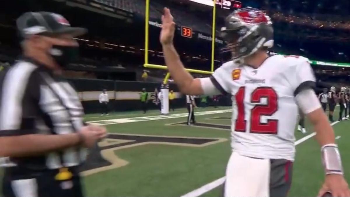 Tom Brady high five.
