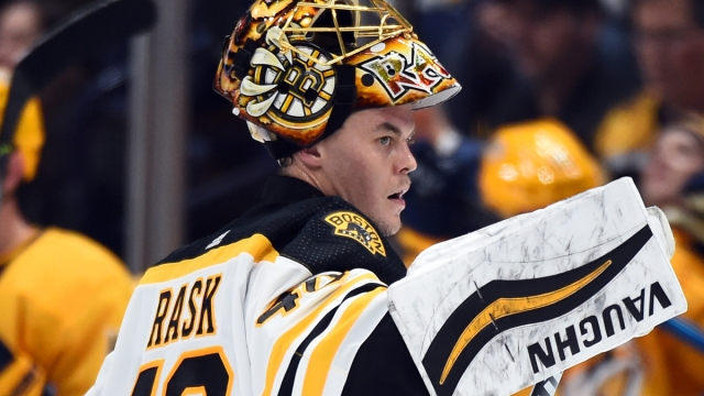 Boston Bruins goaltender Tuukka Rask