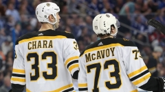 Washington Capitals Defenseman Zdeno Chara And Boston Bruins Defenseman Charlie McAvoy