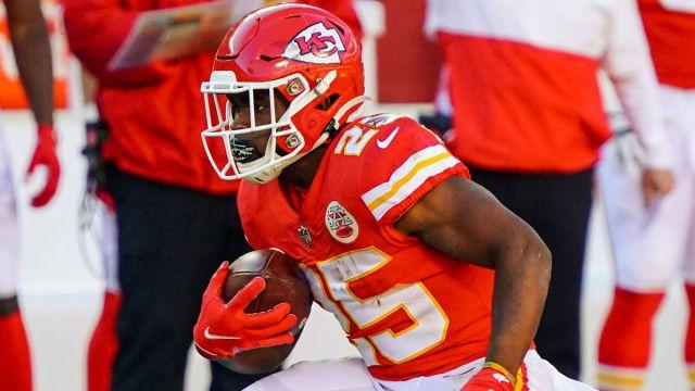 Kansas City Chiefs running back Clyde Edwards-Helaire
