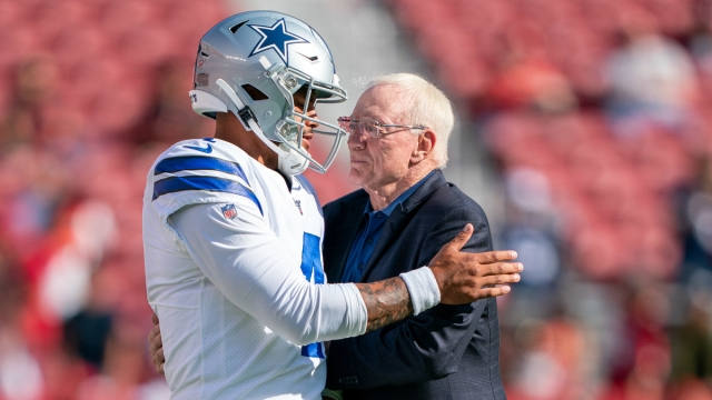 Dallas Cowboys quarterback Dak Prescott, owner Jerry Jones