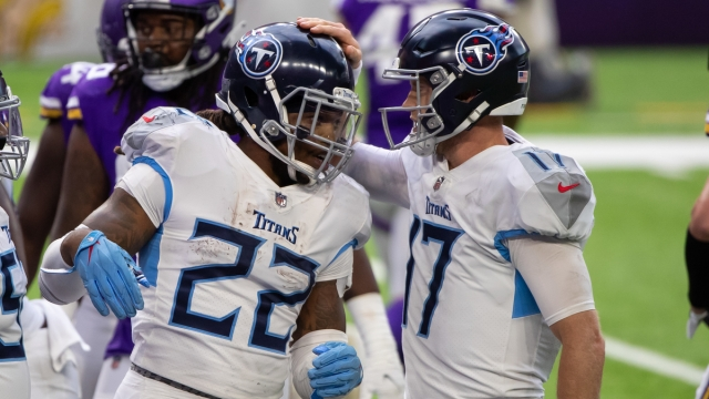 Tennessee Titans quarterback Ryan Tannehill, running back Derrick Henry
