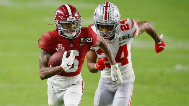 Alabama Crimson Tide wide receiver DeVonta Smith, Ohio State Buckeyes cornerback Shaun Wade