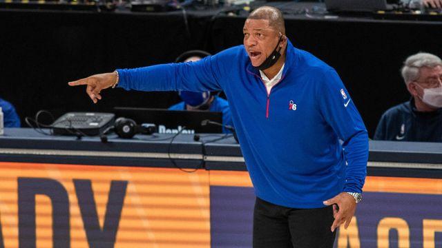 Philadelphia 76ers head coach Doc Rivers