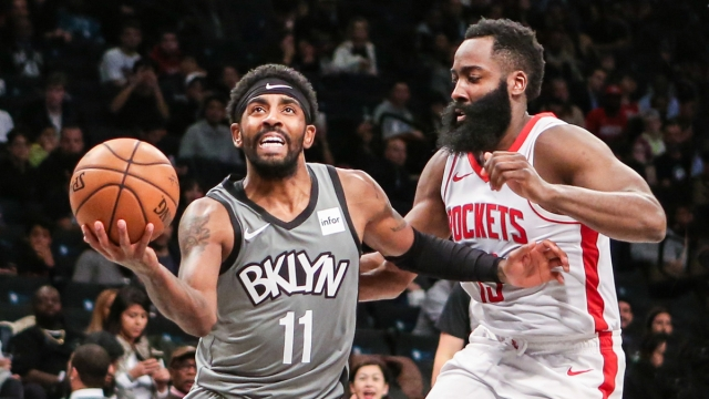 Brooklyn Nets guards Kyrie Irving, James Harden