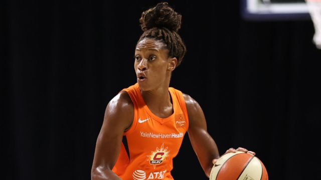 Connecticut Sun captain Jasmine Thomas