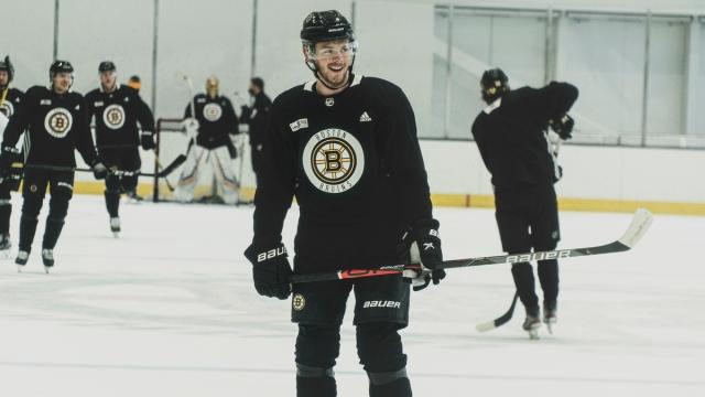 Boston Bruins defenseman Jeremy Lauzon