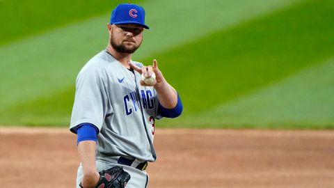 hicago Cubs starting pitcher Jon Lester