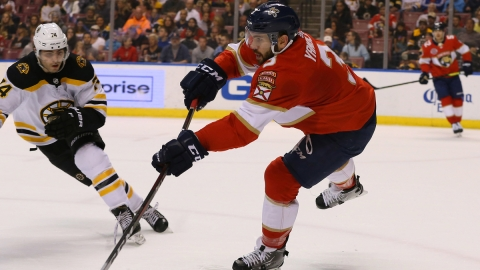 Florida Panthers defenseman Keith Yandle, Boston Bruins winger Jake DeBrusk
