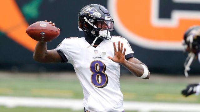 Baltimore Ravens quarterback Lamar Jackson