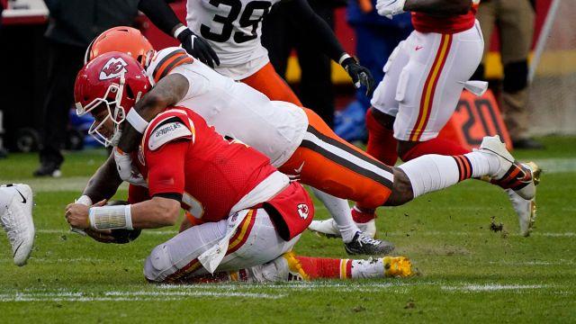 Kansas City Chiefs quarterback Patrick Mahomes and Cleveland Browns outside linebacker Mack Wilson