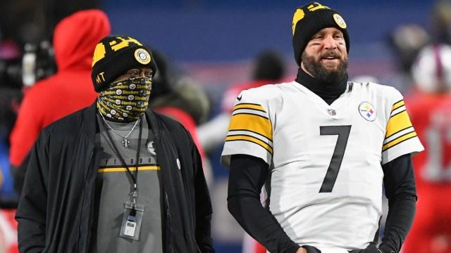 Pittsburgh Steelers quarterback Ben Roethlisberger, head coach Mike Tomlin