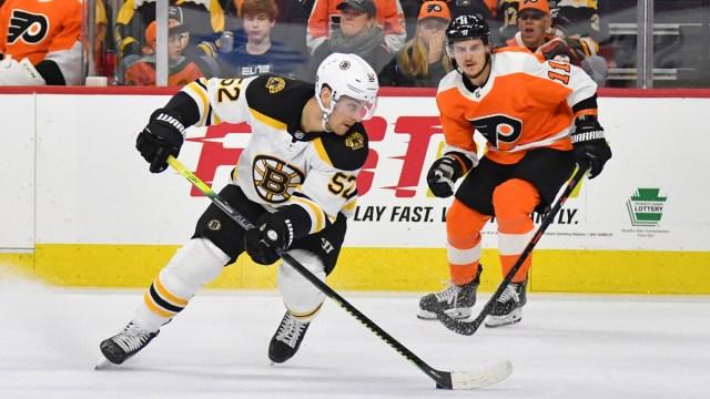 Boston Bruins center Sean Kuraly, Philadelphia Flyers winger Travis Konecny