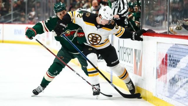 Boston Bruins forward Trent Frederic
