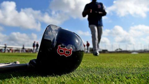 Boston Red Sox helmet