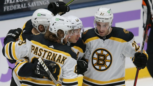 Boston Bruins forward David Pastrnak
