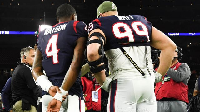 Houston Texans quarterback Deshaun Watson and NFL defensive lineman J.J. Watt