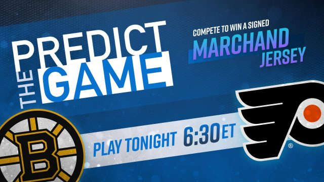 Bruins-Flyers Predict The Game