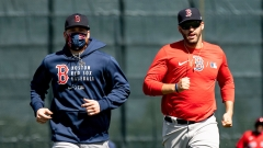 Boston Red Sox outfielder Alex Verdugo and designated hitter J.D. Martinez