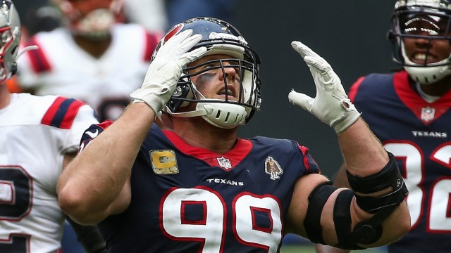 Free-agent defensive end JJ Watt playing the Patriots