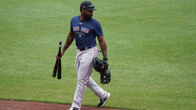Major League Baseball outfielder Jackie Bradley Jr.