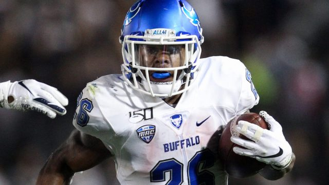 Buffalo running back Jaret Patterson met with the Patriots virtually