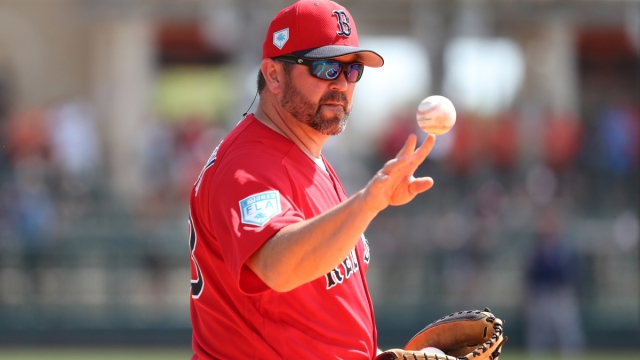 Boston Red Sox coach Jason Varitek