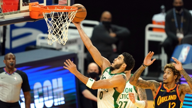 Boston Celtics forward Jayson Tatum (0)