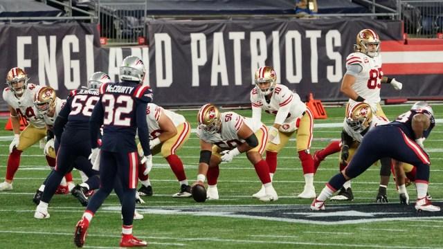 49ers quarterback Jimmy Garoppolo, Patriots defense