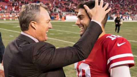 49ers general manager John Lynch, QB Jimmy Garoppolo