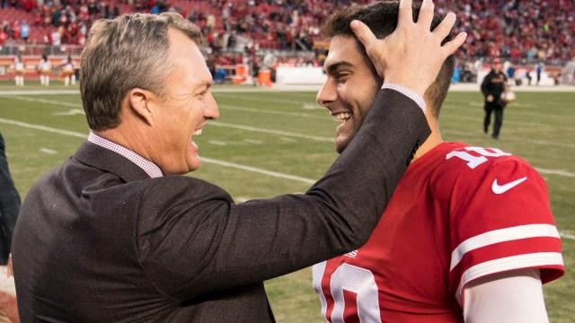 49ers general manager John Lynch, QB Jimmy Garoppolo