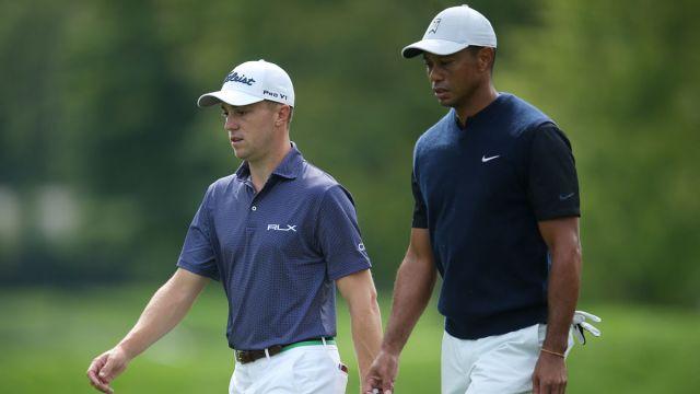 PGA Tour golfers Justin Thomas and Tiger Woods