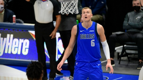 Dallas Mavericks forward Kristaps Porzingis