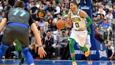 Dallas Mavericks guard Luka Doncic and Boston Celtics forward Jayson Tatum