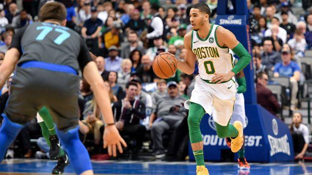 Dallas Mavericks guard Luka Doncic and Boston Celtics forward Jayson Tatum