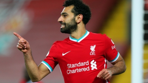Liverpool forward Mohamed Salah