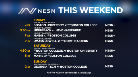 NESN College Sports Lineup