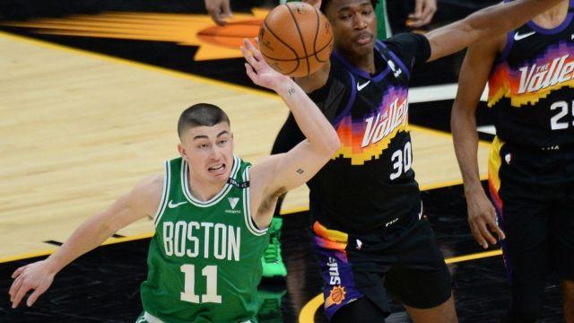 Boston Celtics guard Payton Pritchard, Phoenix Suns center Damian Jones