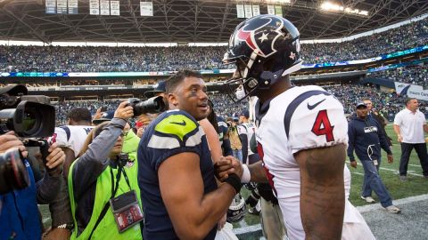 Seattle Seahawks quarterback Russell Wilson, Houston Texans quarterback Deshaun Watson