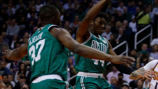 Boston Celtics forward Semi Ojeleye, center Robert Williams