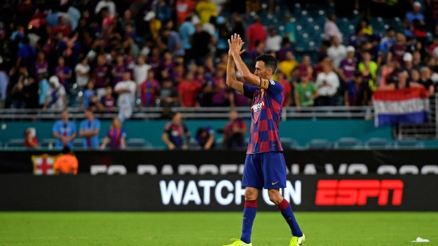 Barcelona midfielder Sergio Busquets