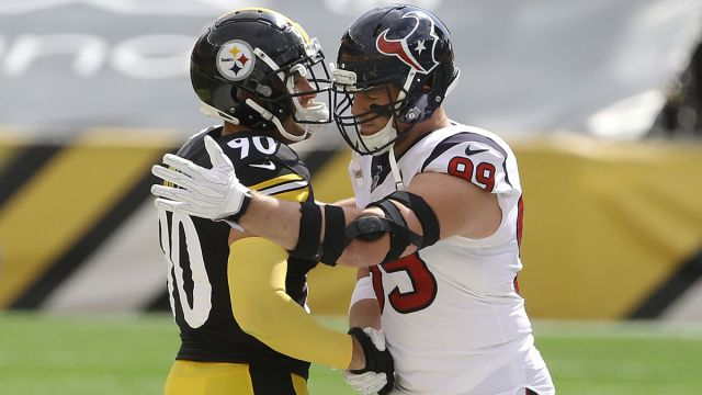 Pittsburgh Steelers linebacker T.J. Watt and NFL defensive lineman J.J. Watt