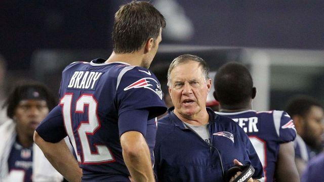 Tampa Bay Buccaneers quarterback Tom Brady and New England Patriots head coach Bill Belichick