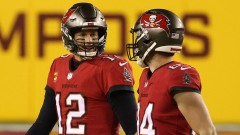 Buccaneers QB Tom Brady, tight end Cameron Brate